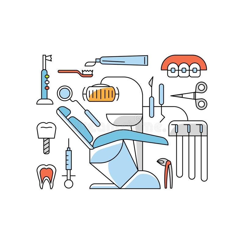 Medical aid concept royalty free illustration
