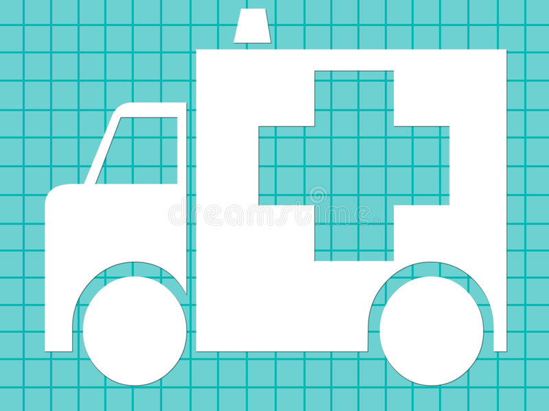 Medical ambulance stock illustration