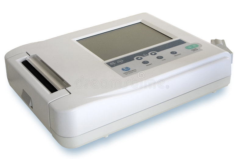 Medical appliance (EKG / ECG) stock photo