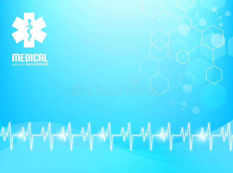 Medical Background. Blue abstract background suitable for materials about healthcare and medical topics stock illustration
