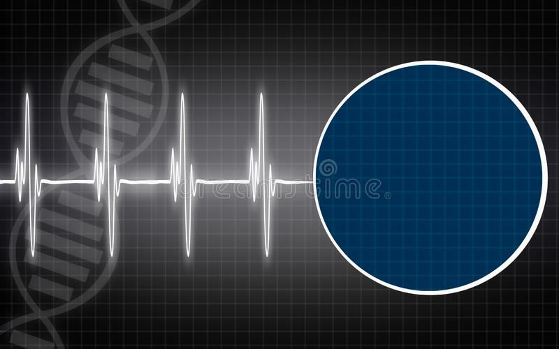 Medical background with DNA structure stock photo