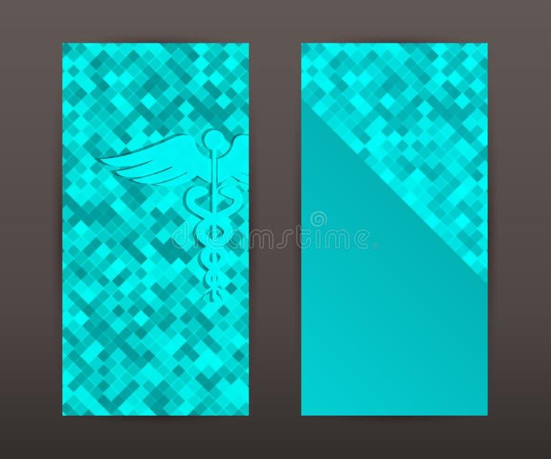 Medical background vertical banner set back front booklet royalty free illustration