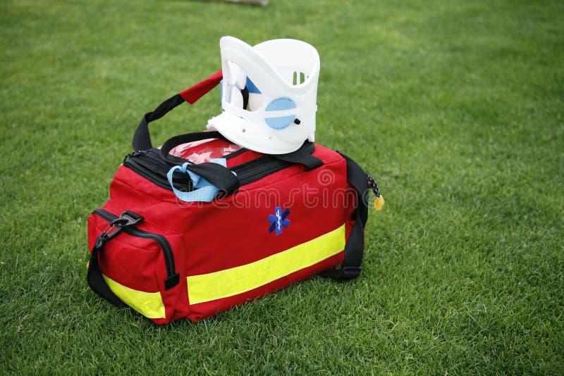 Medical bag - Paramedic. EMT - Medical bag with surgical collar stock photography