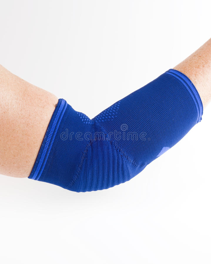 Medical bandage, elbow support stock photography