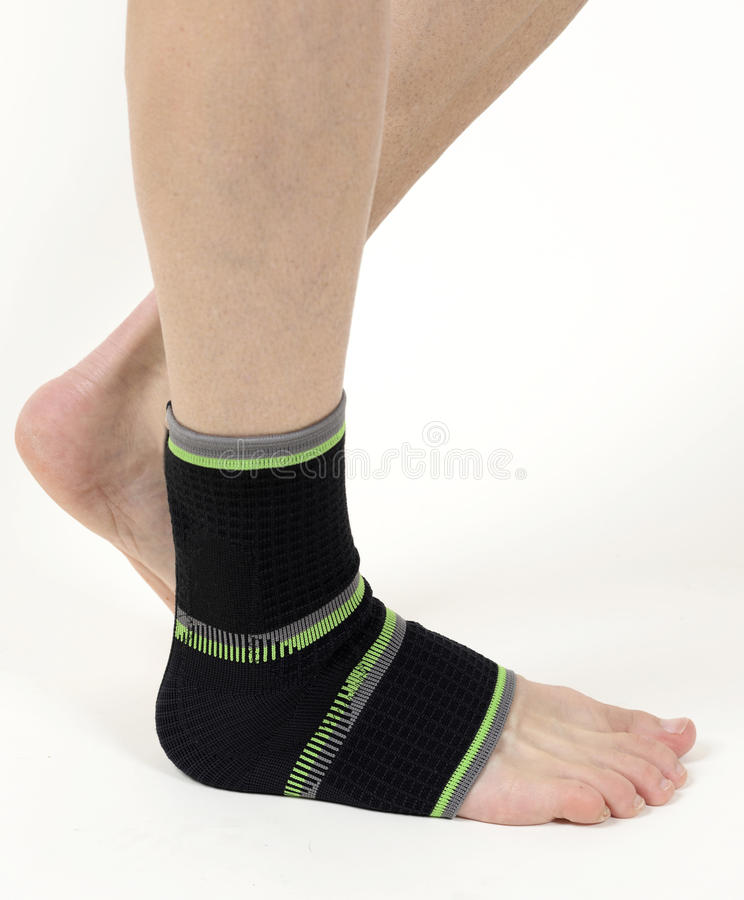 Medical bandage, foot support royalty free stock images