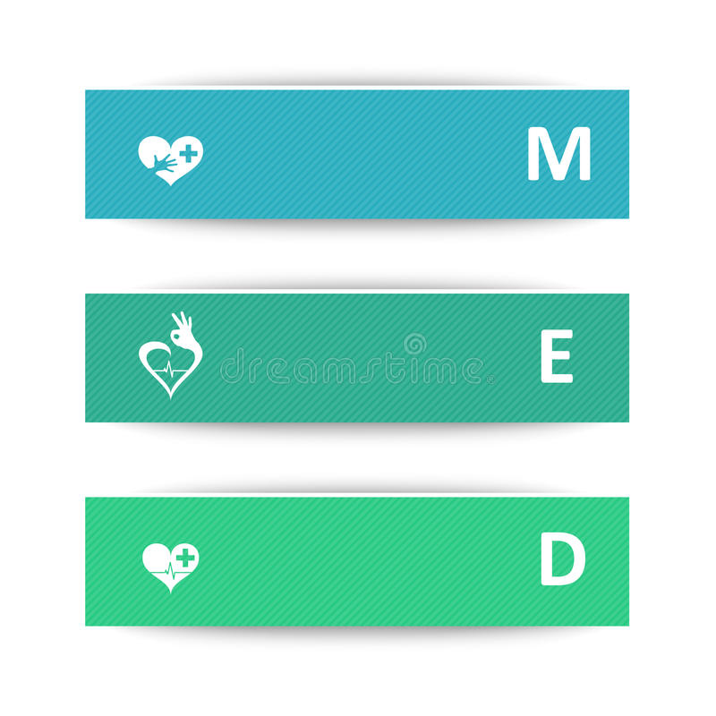 Medical banners vector illustration