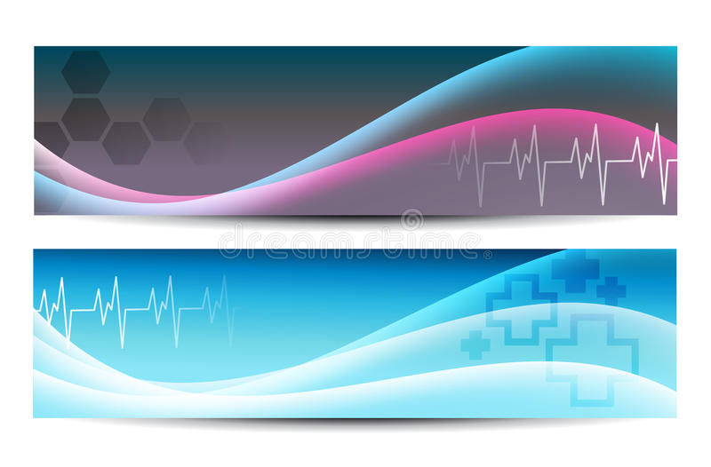 Medical banners. Two Abstract Medical Banners for Web or print vector illustration