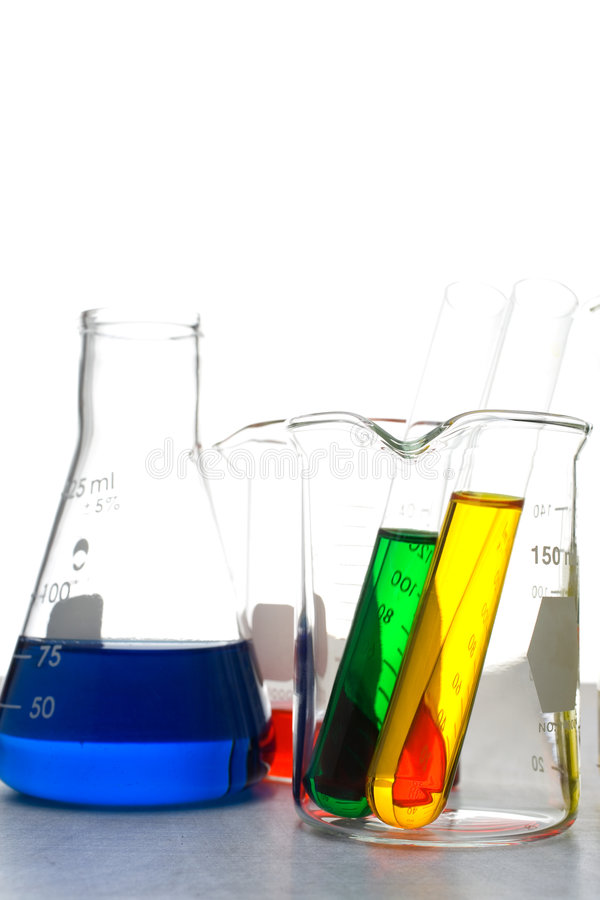Medical Beakers stock photography