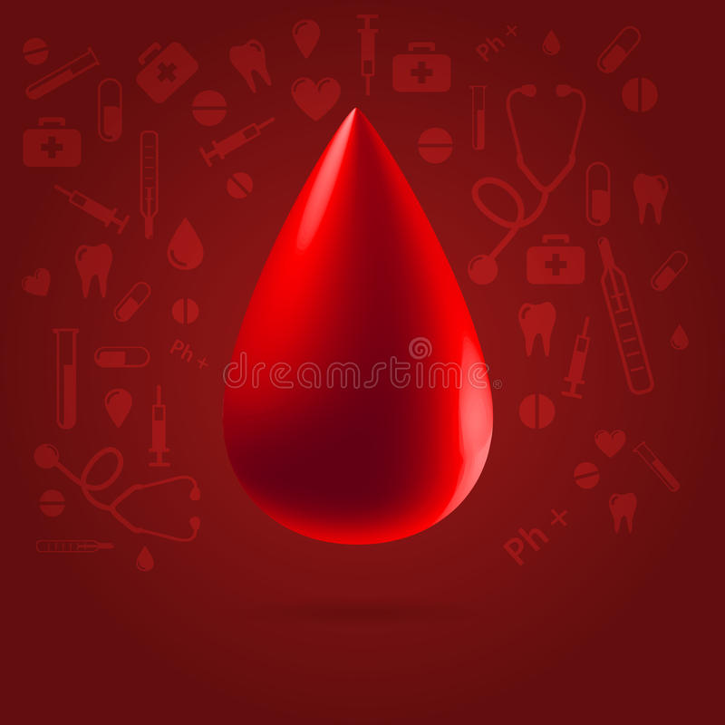 Medical Blood Donation Concept Illustration Royalty Free Stock Photography