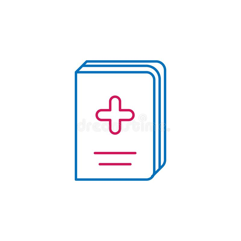 Medical, book, medicine colored icon. Element of medicine illustration. Signs and symbols icon can be used for web, logo, mobile royalty free illustration