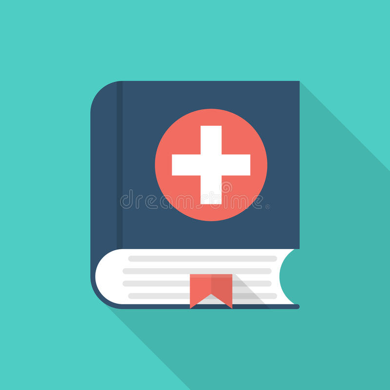 Medical book. Vector icon royalty free illustration