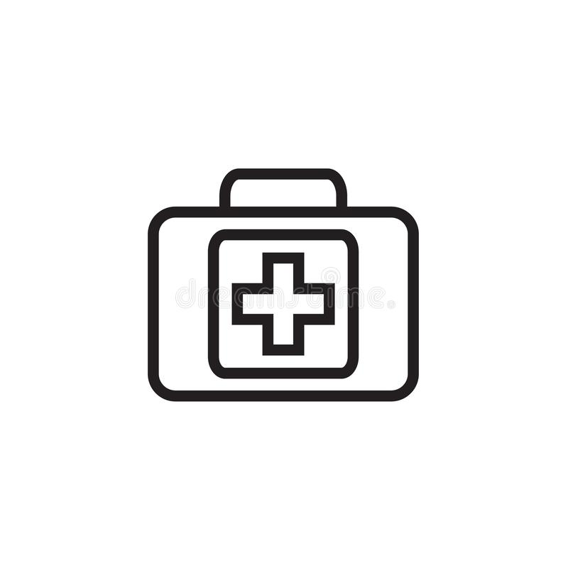 Medical box Icon Vector illustration, EPS10. stock photos