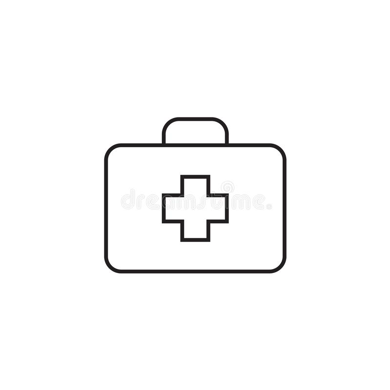 Medical box Icon Vector illustration, EPS10. stock photography