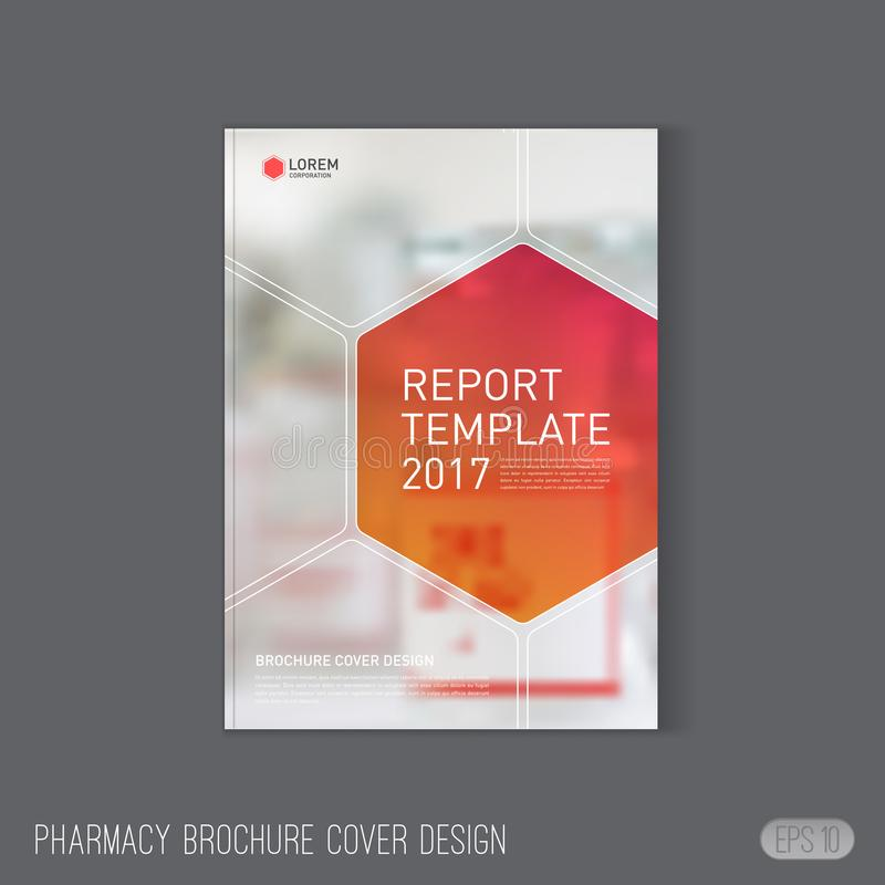 Pharmaceutical Brochure Cover Template Stock Vector Illustration