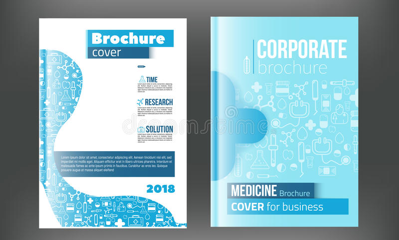 Medical Brochure Design Template. Flyer with inline medicine icons, Modern Infographic Concept for annual report. Vector.  vector illustration