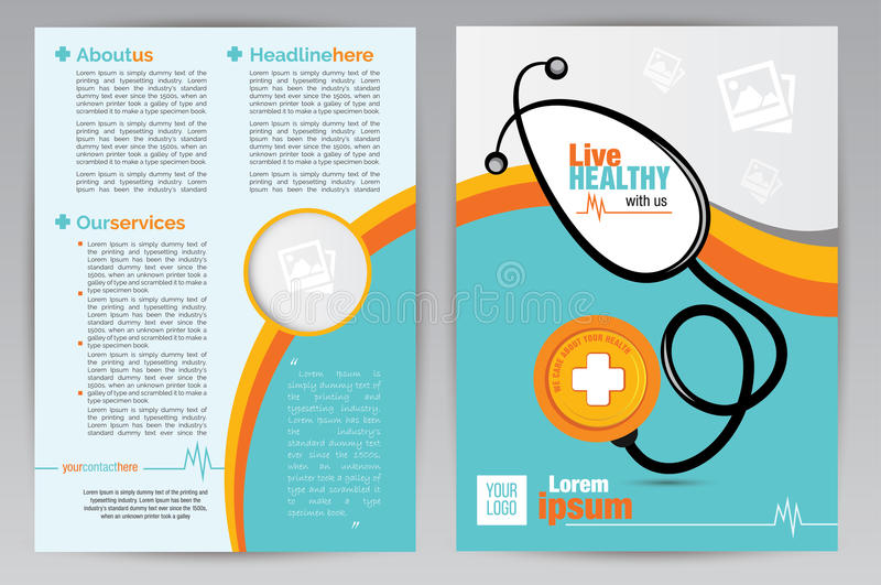 Medical A Brochure Design Template  Medical A Both Side Brochure