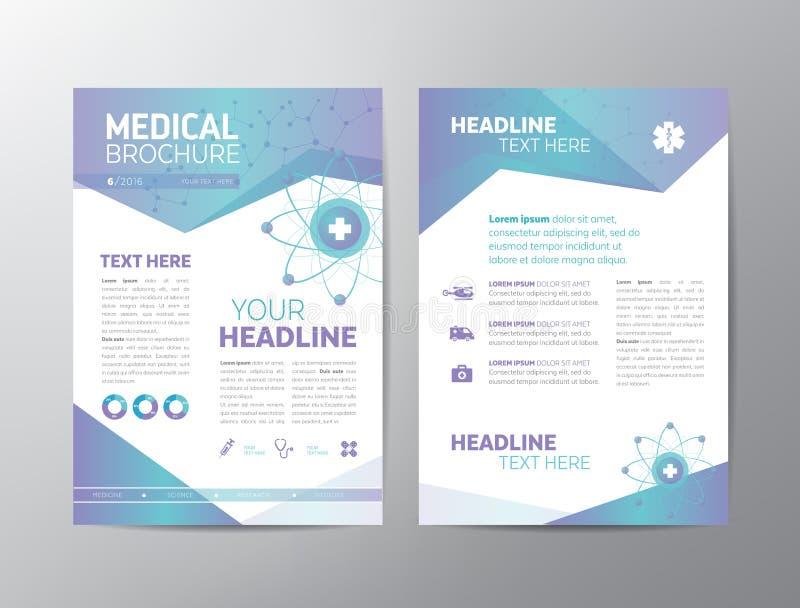Medical Book Cover Template : Medical brochure leaflet stock vector illustration of