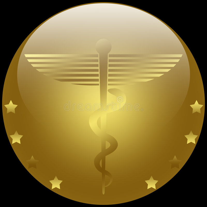 Download Medical Caduceus stock illustration. Image of gold, heal - 6920617