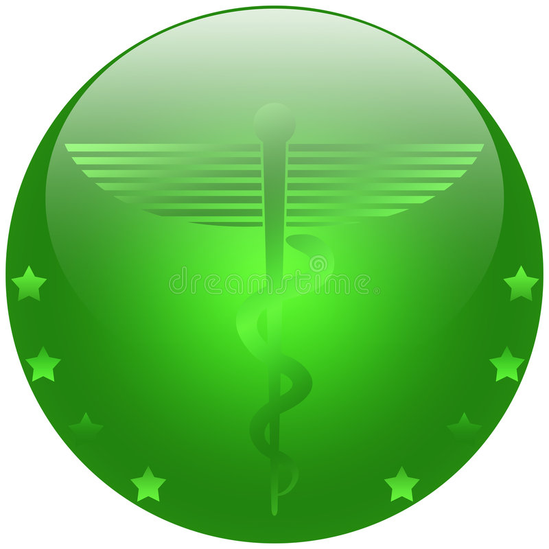 Medical Caduceus. Illustration of the symbol of Caduceus, commonly used by the medical profession royalty free illustration