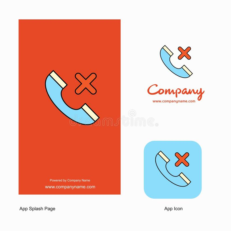 Medical call Company Logo App Icon and Splash Page Design. Creative Business App Design Elements vector illustration