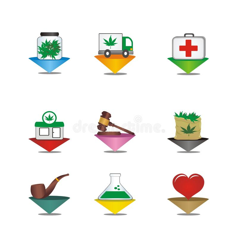 Medical Cannabis Pointer Stock Images