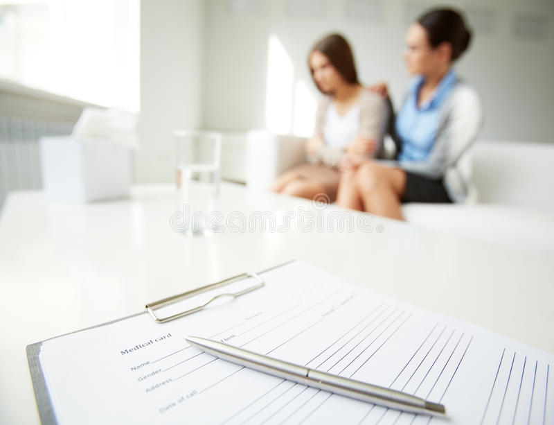 Medical card stock images