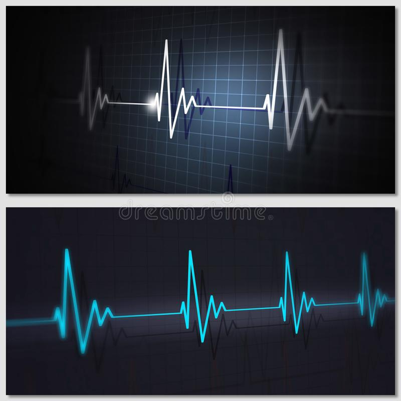 Medical cardiology banners stock images