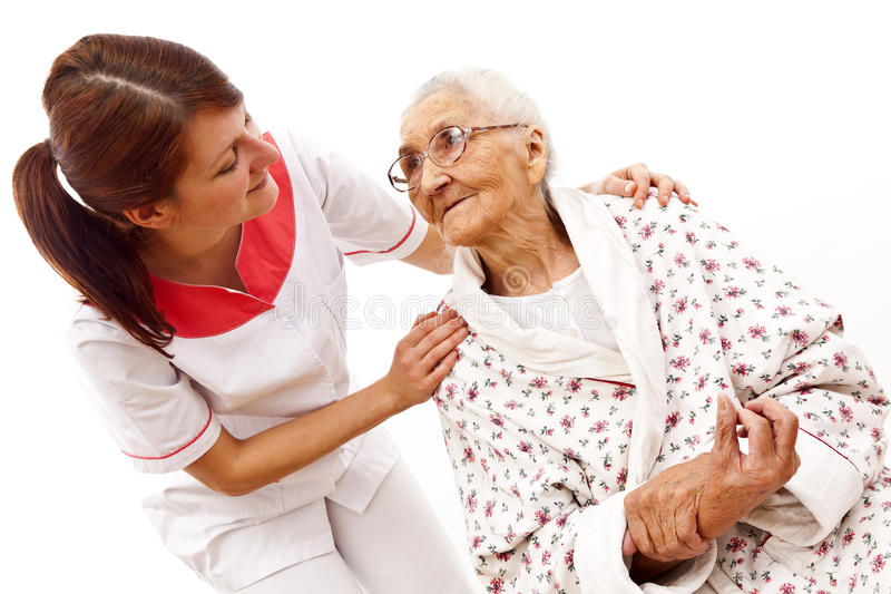 Download Medical Care For An Old Woman Stock Image - Image: 22759531
