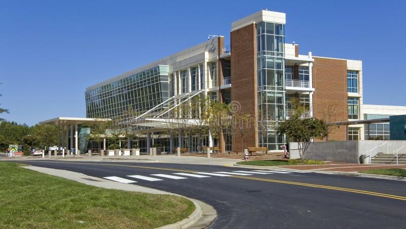 Medical center building. In suburban area stock photos