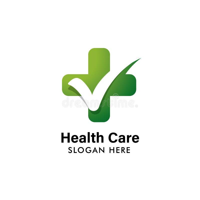medical check logo template. health logo template vector illustration