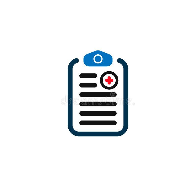 Medical Checklist Health. vector symbol on white background EPS10 royalty free illustration