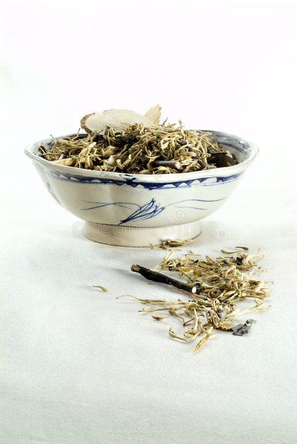 Medical chinese herbs stock image