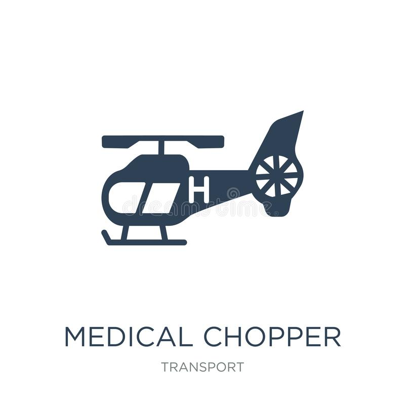 medical chopper transport icon in trendy design style. medical chopper transport icon isolated on white background. medical vector illustration