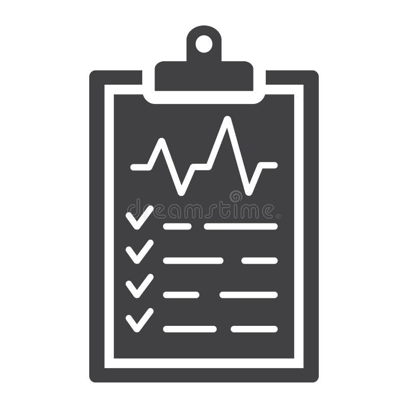 Medical clipboard glyph icon, medicine vector illustration