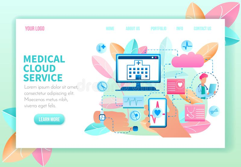 Medical Cloud Service. Vector Illustration. vector illustration