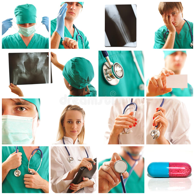 Medical collage royalty free stock photos