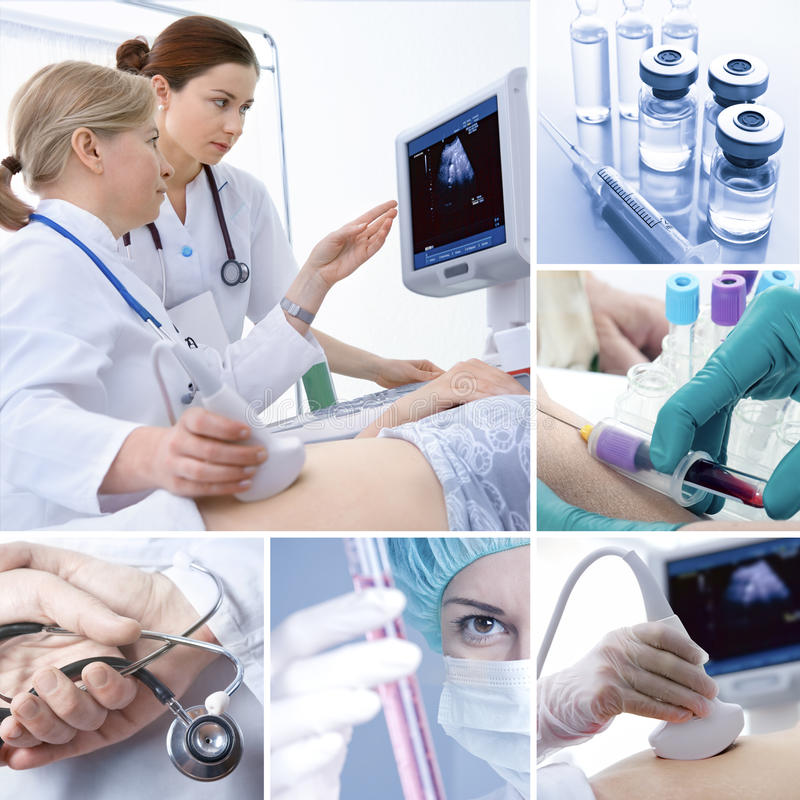 Medical collage stock images