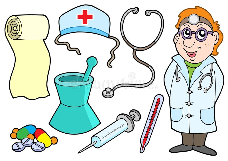 Medical collection stock illustration