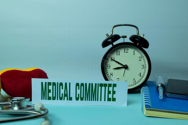 Medical Committee Planning on Background of Working Table with Office Supplies. Medical and Healthcare Concept Planning on White Background royalty free stock images