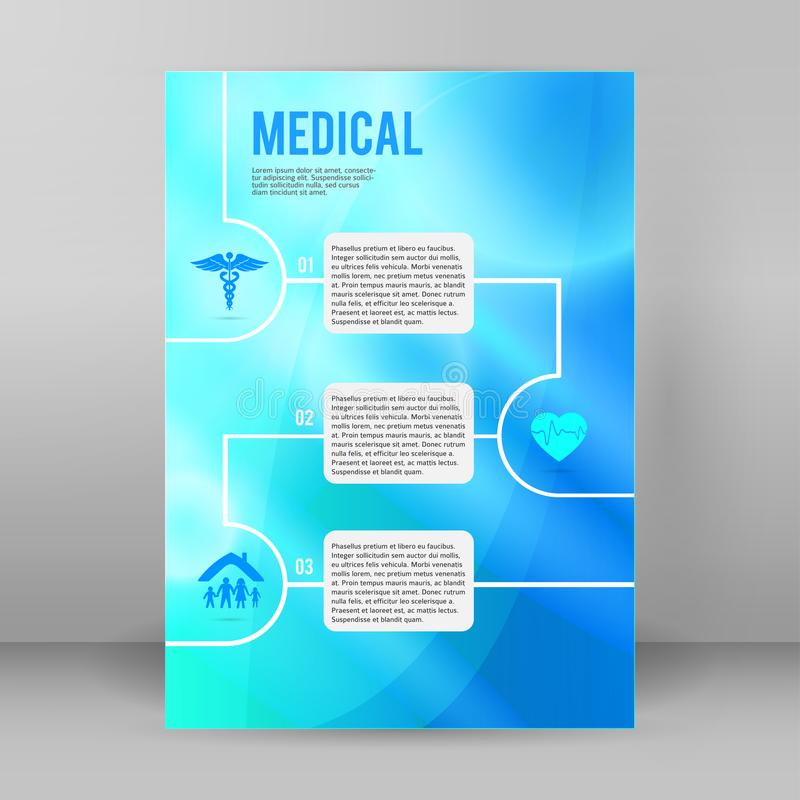 Medical concept cover backdrop brochure page08 vector illustration