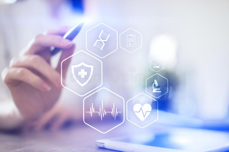Medical concept. Health protection. Modern technology in medicine. stock images
