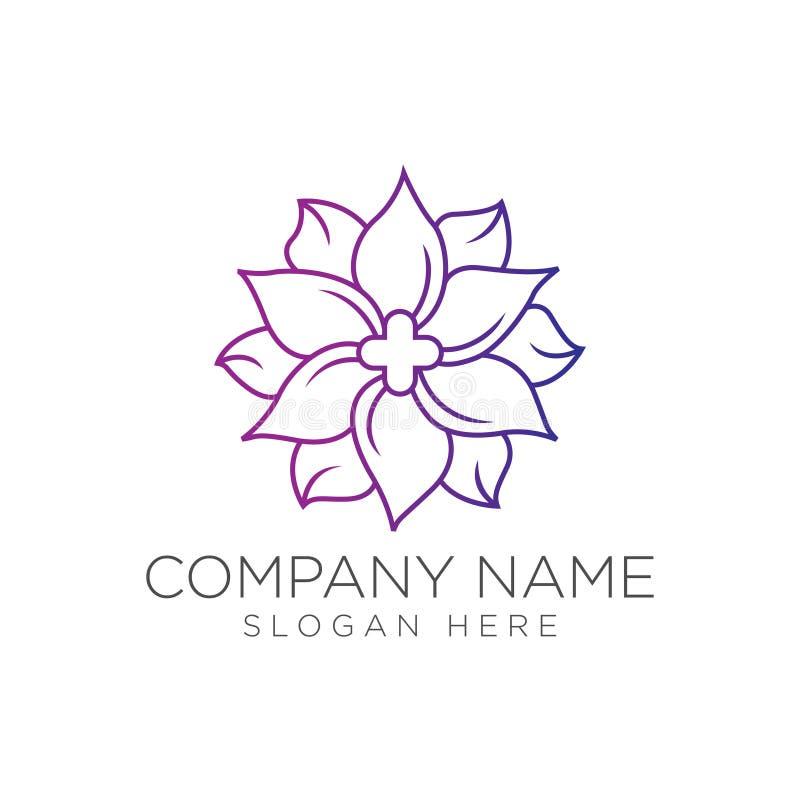 Medical cross and herbal leaf. medicine pharmacy logo royalty free illustration