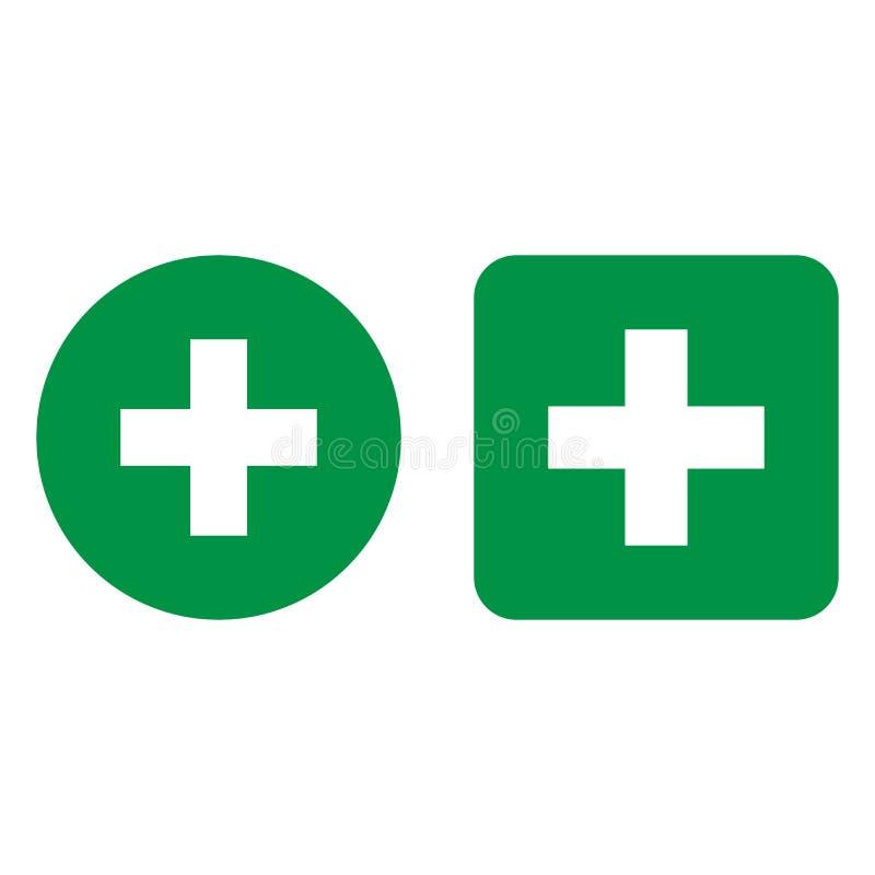 Medical cross icon. Vector illustrations. Flat design. stock illustration