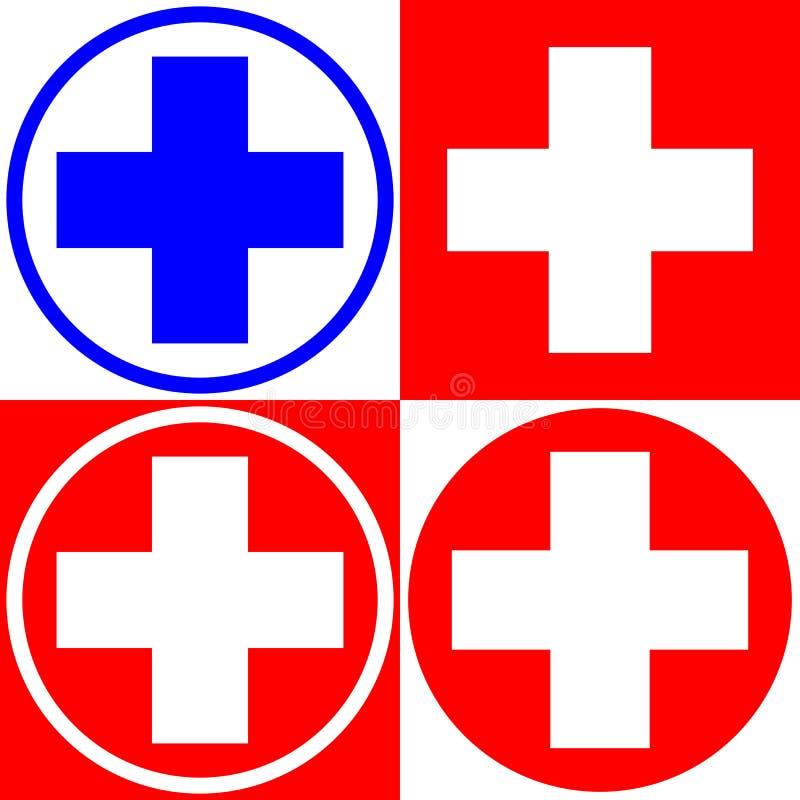 Medical Cross Set Of Medical Symbols Options Vector Stock Vector