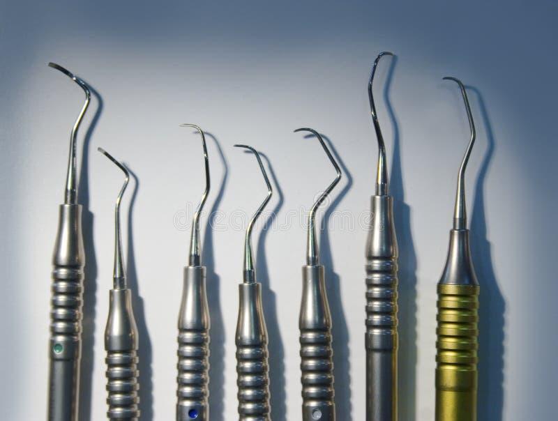 Medical dental instruments stock images