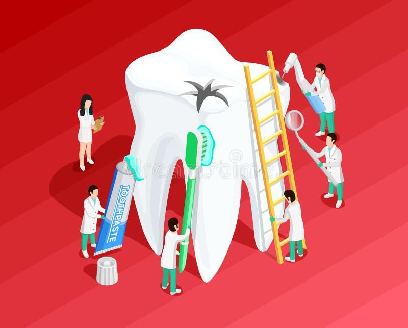 Medical Dental Isometric Template vector illustration