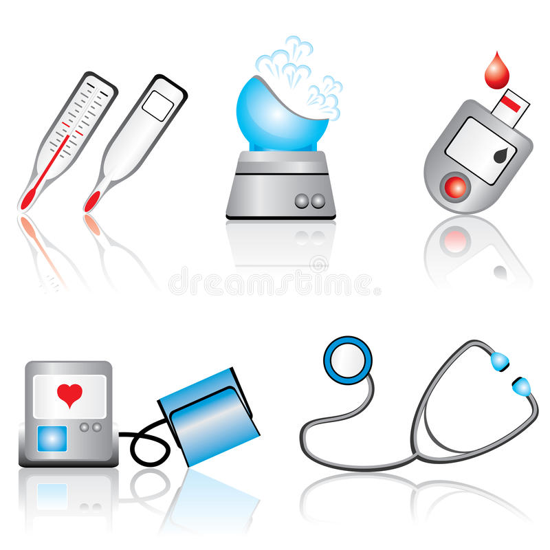 Medical devices royalty free illustration