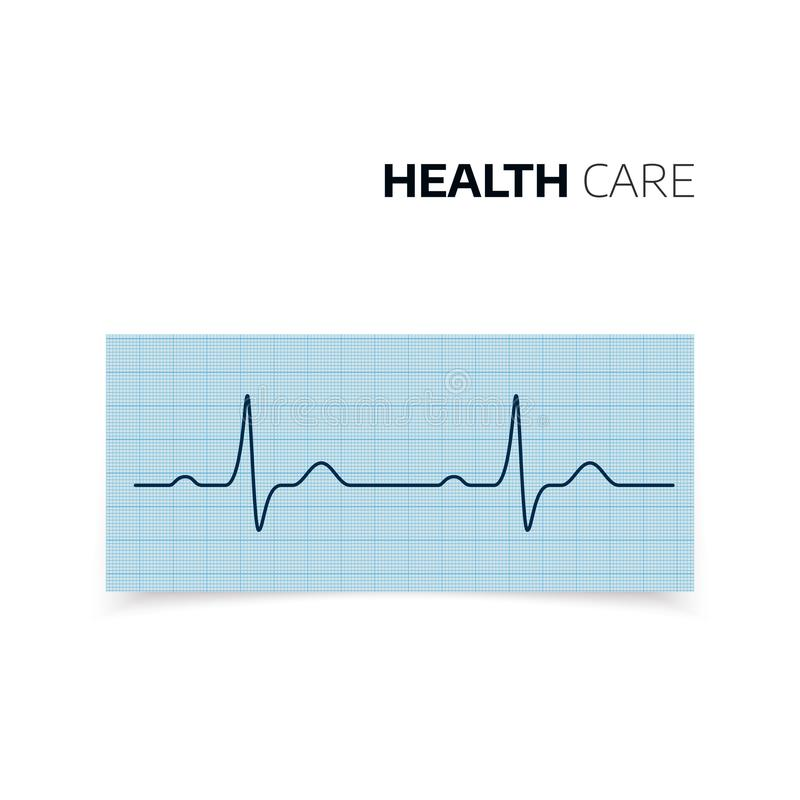 Medical diagnosis of Heartbeat and heart rate. Cardiogram of health Heart. Heartbaet curve on graph paper. Vector illustration vector illustration