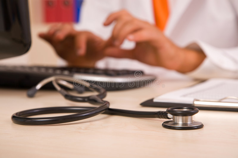 Medical doctor. Medical concept with stethoscope at the hospital