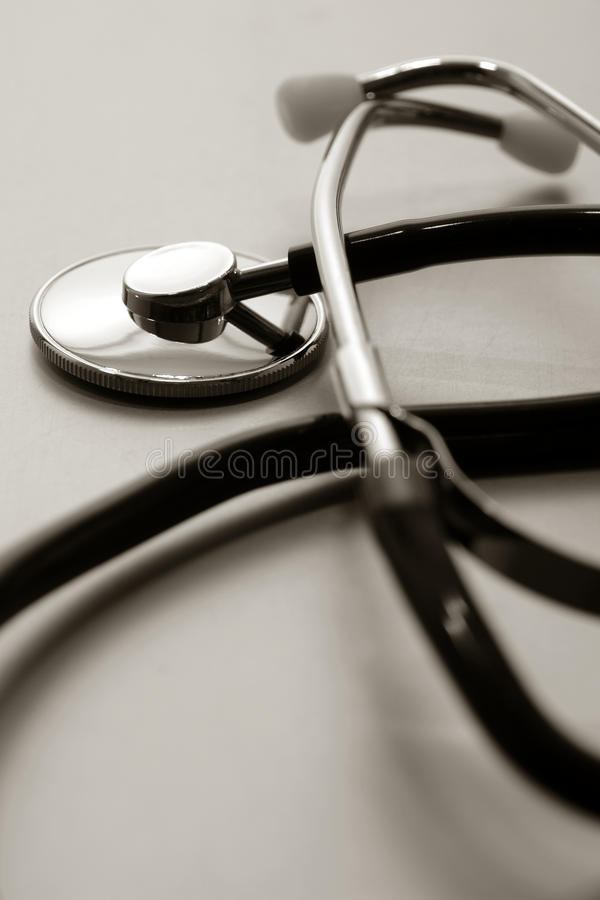 Medical Doctor Examination Stethoscope Device stock images